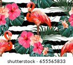 beautiful seamless vector... | Shutterstock .eps vector #655565833
