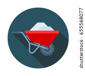 loaded barrow colored vector... | Shutterstock .eps vector #655568077