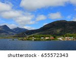 Small photo of The isolated Puerto Eden in Wellington Islands, fiords of southern Chile, Province Ultima Esparanza