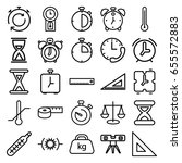 measurement icons set. set of... | Shutterstock .eps vector #655572883