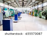 industrial factory with cnc... | Shutterstock . vector #655573087