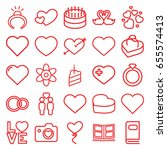Wedding Icons Set. Set Of 25...