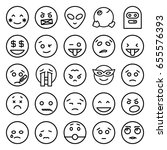 emoticon icons set. set of 25... | Shutterstock .eps vector #655576393