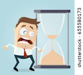 time is running out hourglass... | Shutterstock .eps vector #655580173