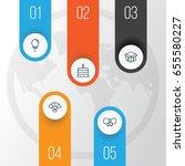 celebration icons set.... | Shutterstock .eps vector #655580227