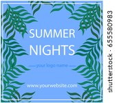 summer poster | Shutterstock .eps vector #655580983