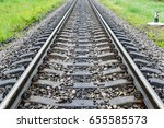 Railroad Track Into The...