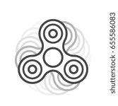 fidget spinner line vector icon.... | Shutterstock .eps vector #655586083