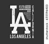 los angeles  california... | Shutterstock .eps vector #655596403
