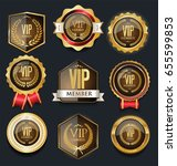 vip golden label collection  | Shutterstock .eps vector #655599853