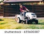 gardening works with handsome... | Shutterstock . vector #655600387