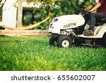 landscaping details   worker... | Shutterstock . vector #655602007