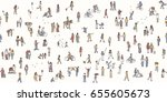 seamless banner of tiny... | Shutterstock .eps vector #655605673