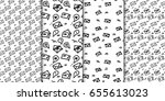seamless pattern set with hand... | Shutterstock .eps vector #655613023