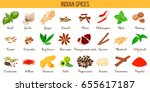 big vector set of popular... | Shutterstock .eps vector #655617187