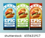 epic burger party   flyers... | Shutterstock .eps vector #655631917