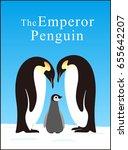 emperor penguin family love... | Shutterstock .eps vector #655642207