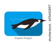emperor penguin swimming in the ... | Shutterstock .eps vector #655642897