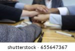 hands together group  soft... | Shutterstock . vector #655647367