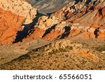 Patterns Of Red Rock Canyon - stock photo