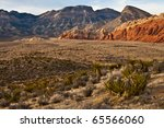Red Rock Canyon View - stock photo