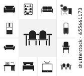 set of 12 editable interior...