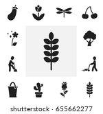 set of 12 editable gardening...