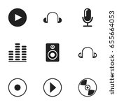 set of 9 editable audio icons....