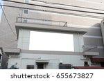 large blank billboard on a... | Shutterstock . vector #655673827