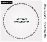 black abstract halftone logo... | Shutterstock .eps vector #655697503