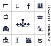 set of 13 set icons set...   Shutterstock .eps vector #655699357