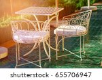 white table and chair in the... | Shutterstock . vector #655706947