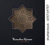 ornament beautiful ramadan.... | Shutterstock .eps vector #655719757