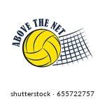 volleyball badge  creative... | Shutterstock .eps vector #655722757