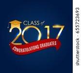 congratulations on graduation... | Shutterstock .eps vector #655723693