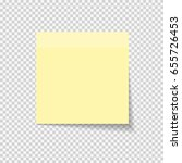 sticky paper note on... | Shutterstock .eps vector #655726453