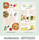 restaurant menu vertical... | Shutterstock .eps vector #655731223