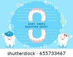 cute cartoon healthy baby tooth ... | Shutterstock .eps vector #655733467