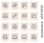 e mail web icons on gray... | Shutterstock .eps vector #65573923