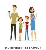 family   colored vector modern... | Shutterstock .eps vector #655739977