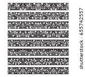 black white vintage elements... | Shutterstock .eps vector #655742557