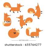 set of cute hand drawn vector...   Shutterstock .eps vector #655764277