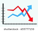 graph vector up and down | Shutterstock .eps vector #655777153