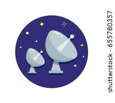 radio telescopes vector icon | Shutterstock .eps vector #655780357