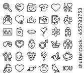 love icons set. set of 36 love... | Shutterstock .eps vector #655783753