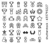 victory icons set. set of 36... | Shutterstock .eps vector #655793227