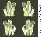 Green Cactus Vector Seamless...