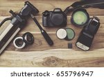 photography equipment  camera ... | Shutterstock . vector #655796947