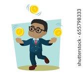 businessman is juggling coin | Shutterstock . vector #655798333
