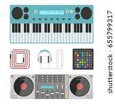 hip hop accessory musician...   Shutterstock .eps vector #655799317